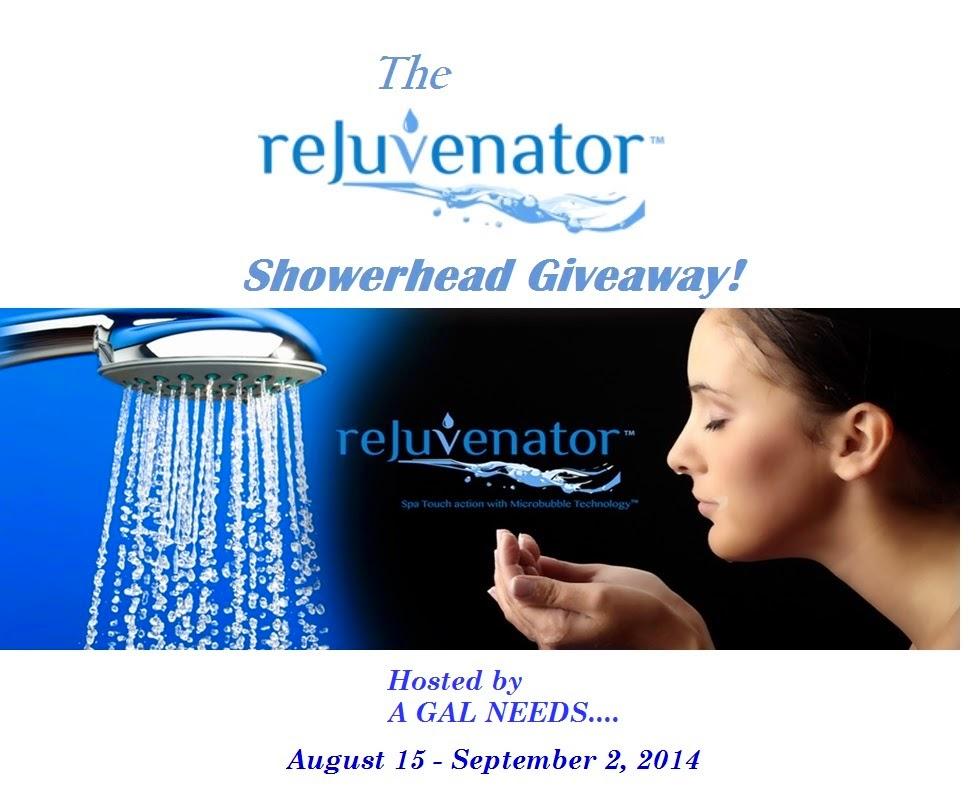 Rejuvenator Showerhead Giveaway