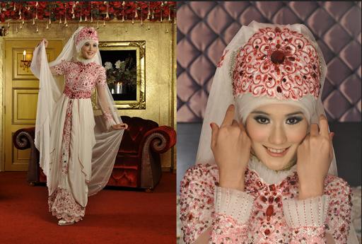 MODEL 4. Hijab Modern untuk Pengantin image