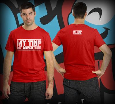 Model Kaos MTMA Merah Depan Belakang Combed 20s