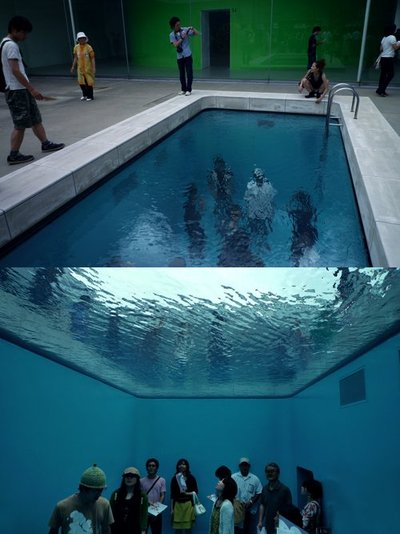 mind trick, illusion, pool, funny, strange, unbelievable, beautiful