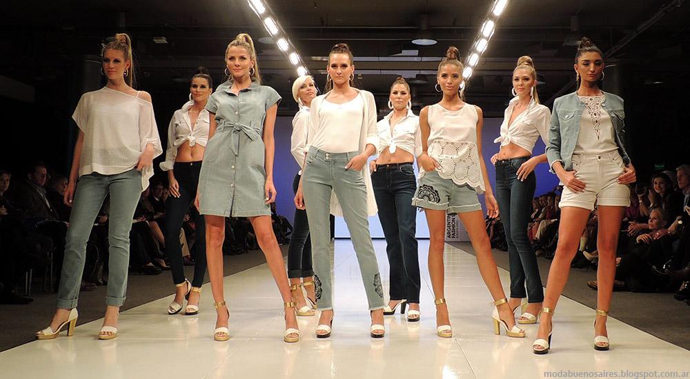 Adriana Costantini primavera verano 2015 moda jeans 2015. Argentina Fashion Week primavera verano 2015.