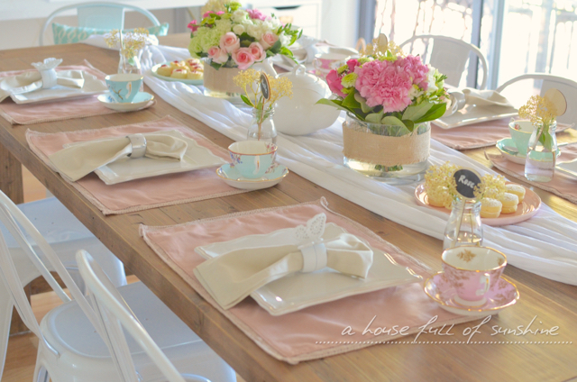 Save & How to decorate a sweet high tea table with fresh flowers | A House ...