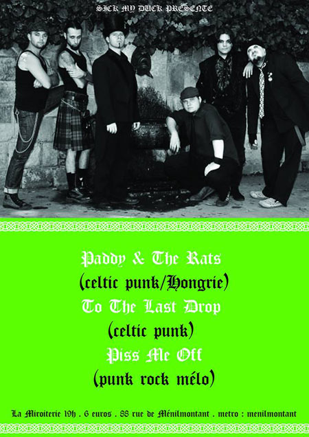 v deos paddy and the rats y to the last drop en paris celtic punk rock. Black Bedroom Furniture Sets. Home Design Ideas