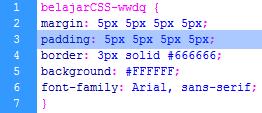 Pengertian Padding, Margin Dan Border Dalam CSS