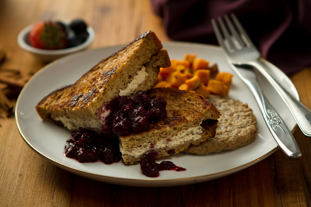 ice cream + french fries: Stuffed French Toast with Berry Compote
