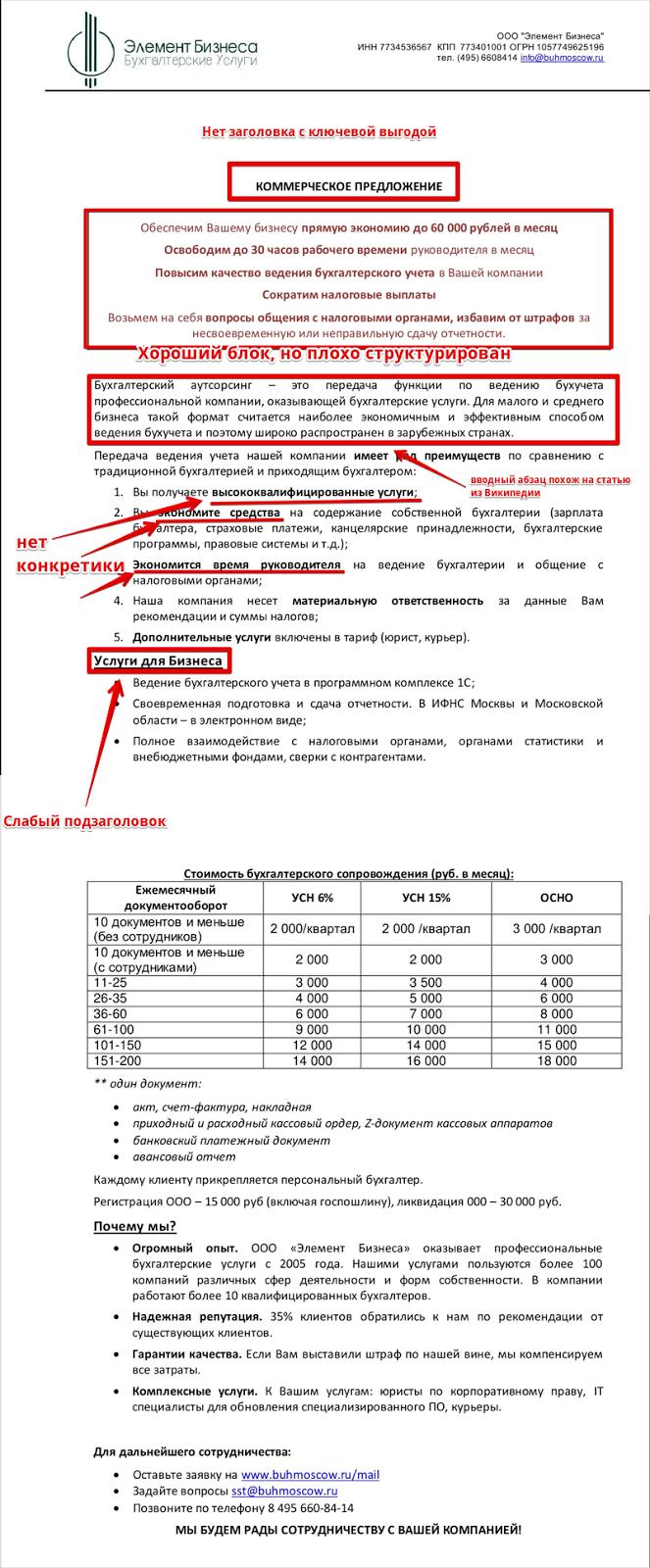 коммерческое предложение на установку натяжных потолков образец