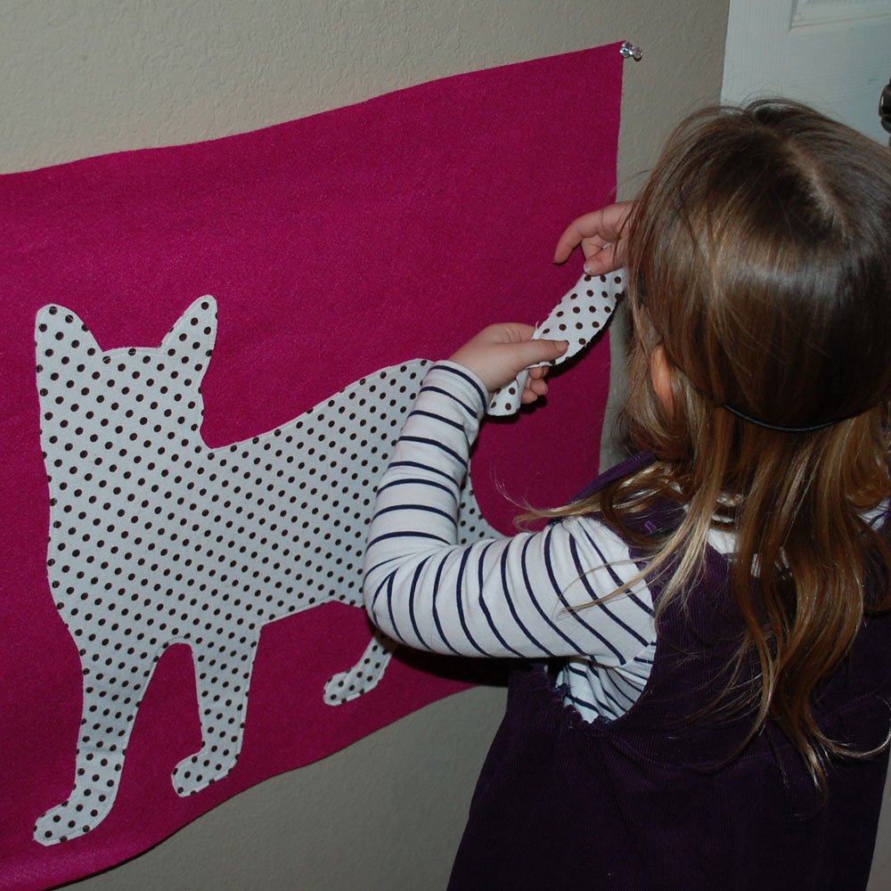 Pin the Tail on the Black Cat Halloween Game { Free ...