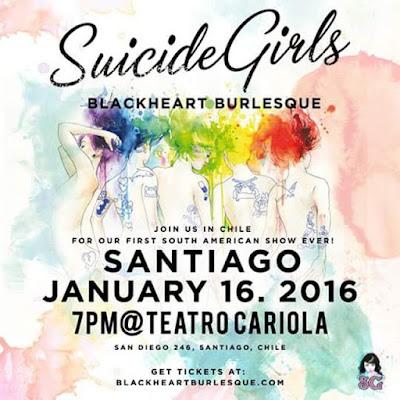 Suicide Girls Chile 2016 entradas baratas en primera fila VIP no agotadas Ticketek hasta adelante