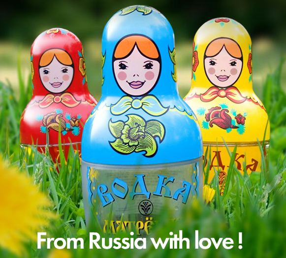 "Vodka ""Matryoshka"". From Russia with Love"