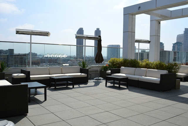 Andaz San Diego roof lounge Hyatt Hotel #cbias