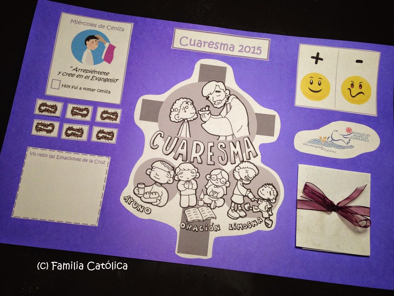 Familia Católica: Página Litúrgica para Cuaresma - Ideal para niños ...
