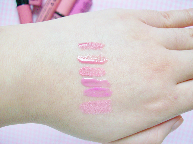 NYX Lip Glosses Review