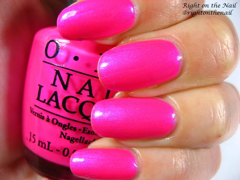 OPI 2014 Neon Collection Swatch And Review Hotter Than You Pink