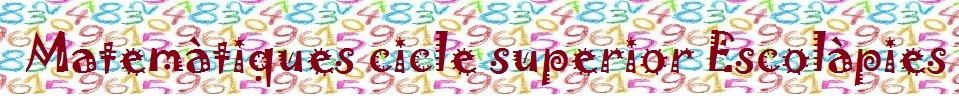 Matemàtiques cinquè de Primària Escolàpies