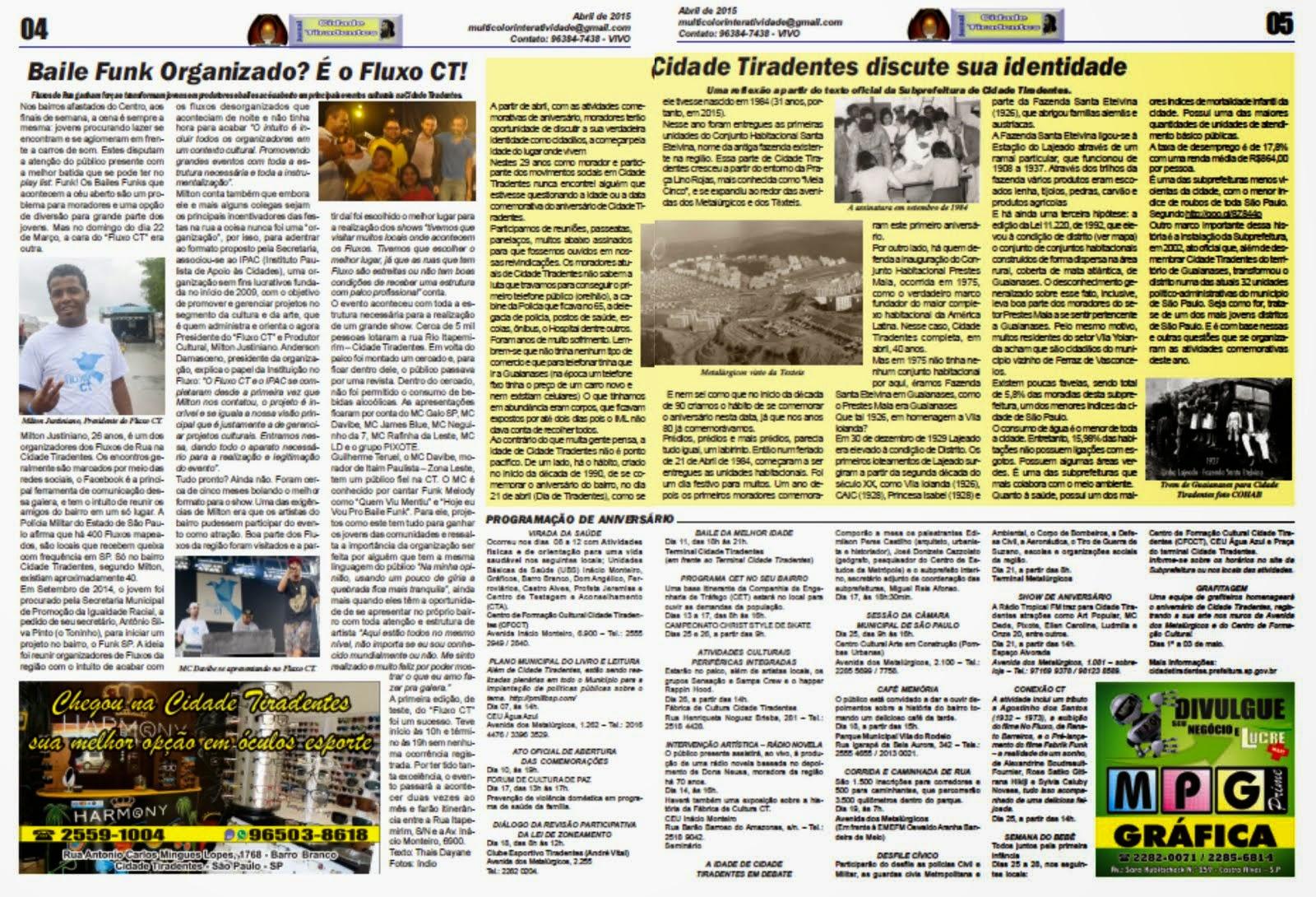 Jornal Cidade Tiradentes 56/4/5