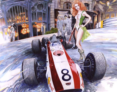 Denis Sire girl and car