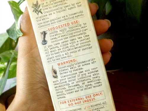 Tea tree oil directions for use