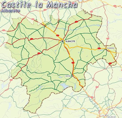 Albacete Mapa Ciudad de la Región