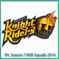 IPL Season 7 Kolkata Knight Riders Squads Profile and Squads Logo Kolkata Knight Riders IPL 7 Scorecards
