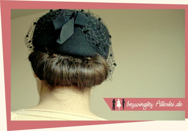 Frisur zum Hut, Hutnetz, Hutform, Hutmacherei
