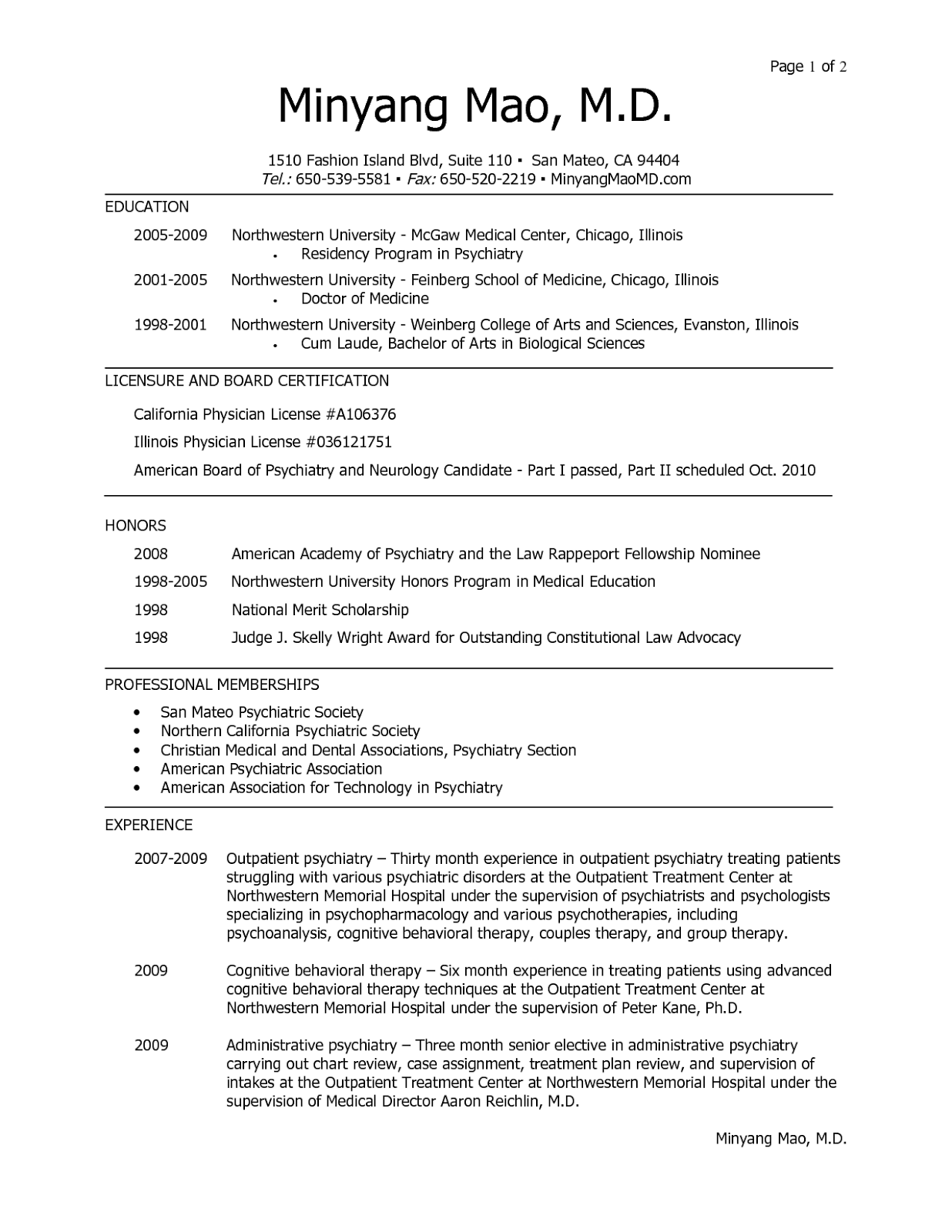 medical student resume sample - Medical Resume Examples