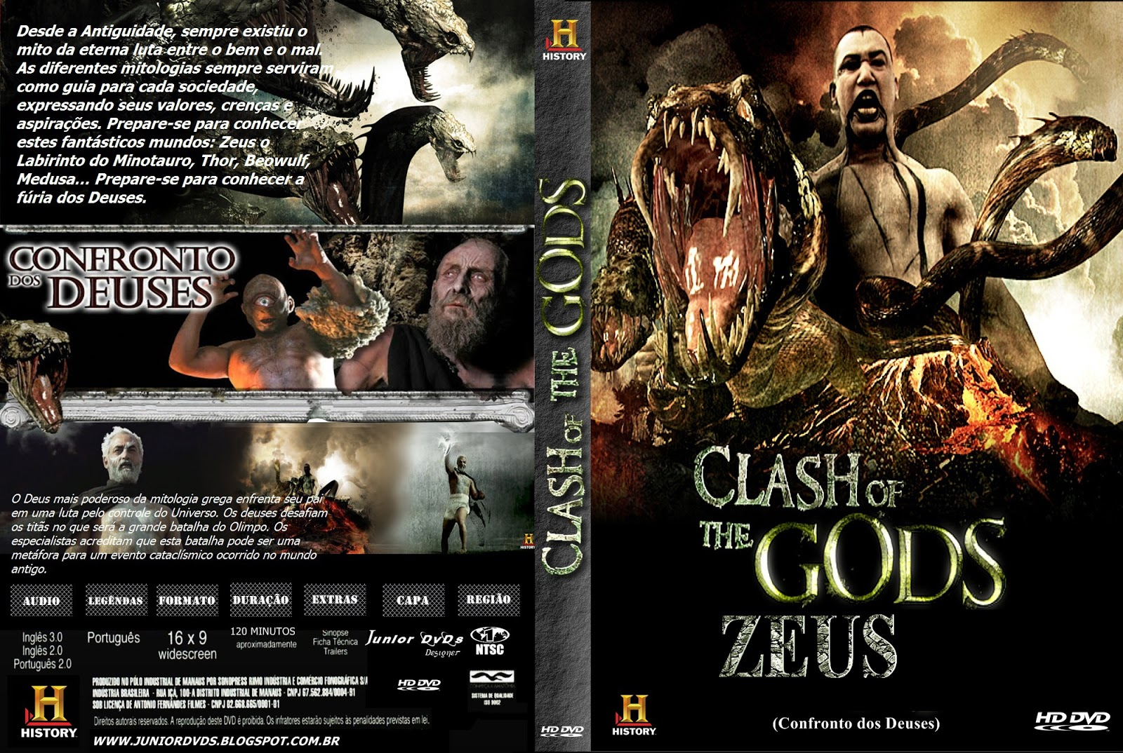 junior dvds capa do dvd clash of the gods zeus pedido junior dvds designer. Black Bedroom Furniture Sets. Home Design Ideas
