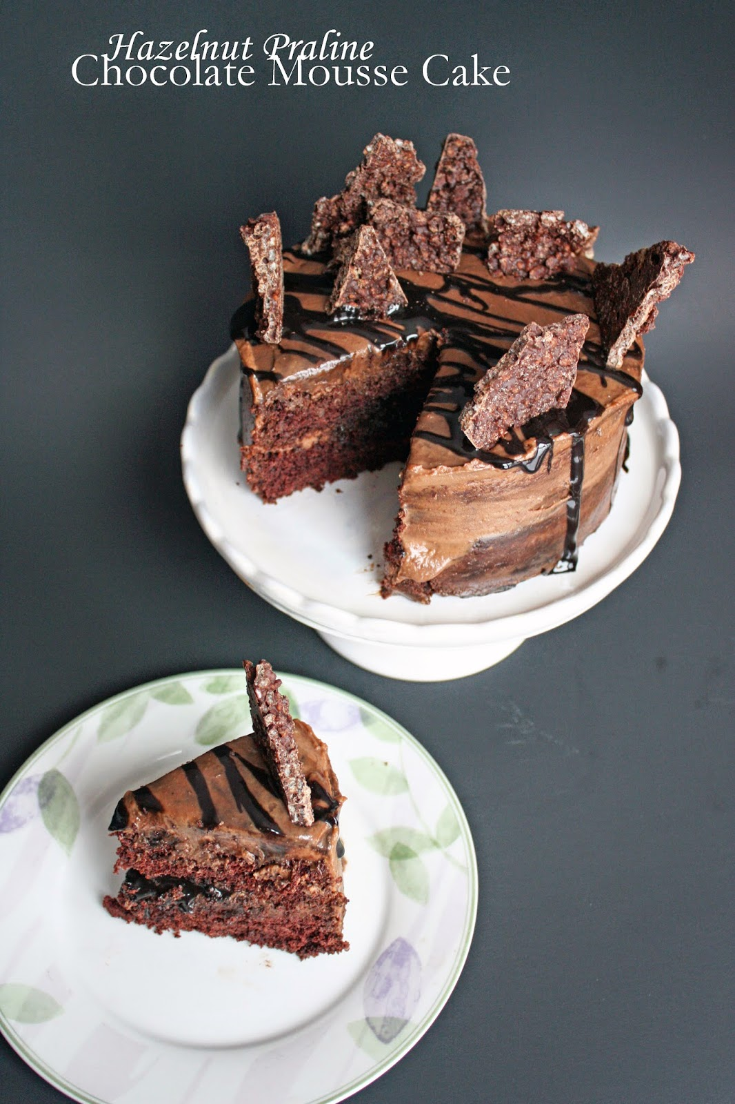 Vegan chocolate hazelnut cake with praline chocolate crunch | How to ...