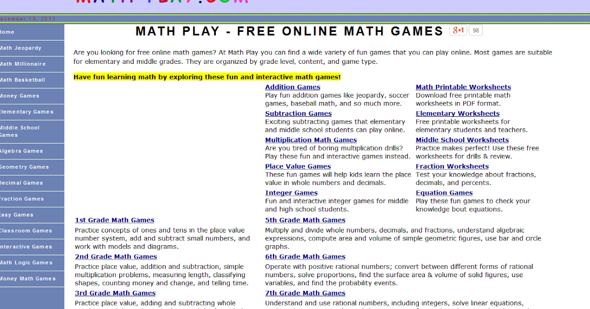 Learning Never Stops: 6 more math websites to be discovered (again)