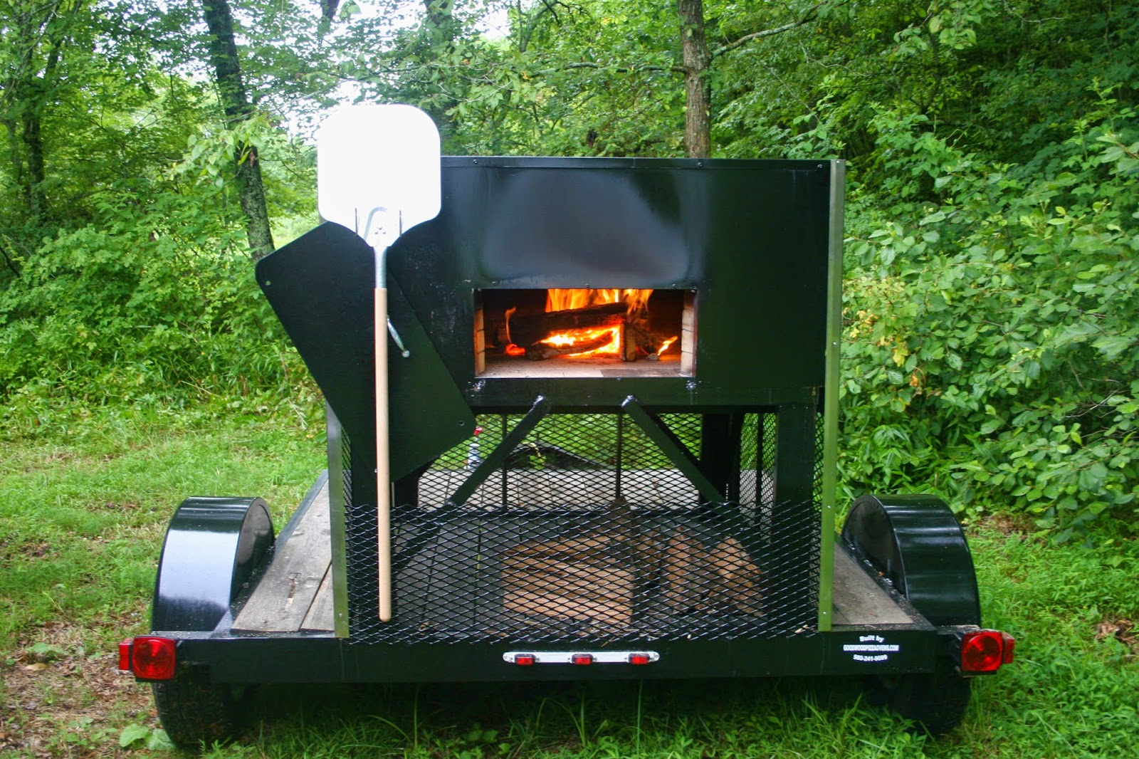 Mobile Wood-fired Pizza Oven at Big Switch Farm