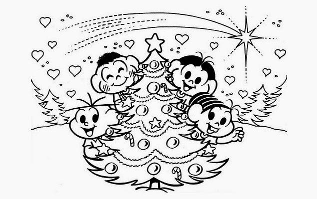 Desenhos Para Colorir Turma Da Mônica Natal
