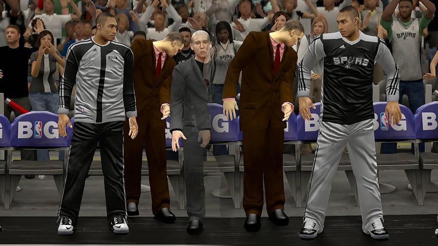 NBA2K Spurs Warmup Uniforms Patch