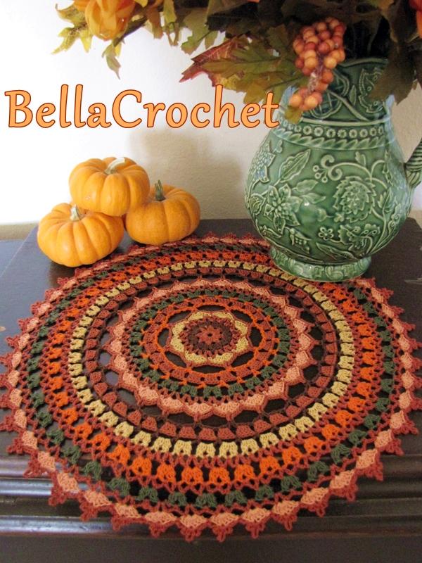 Bellacrochet Autumn Spice Mandala Doily A Free Crochet Pattern For You