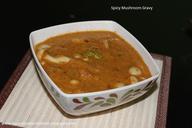 spicy mushroom gravy