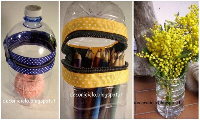 Favoloso decoriciclo: Riciclo bottiglie di plastica + Premio GJ89