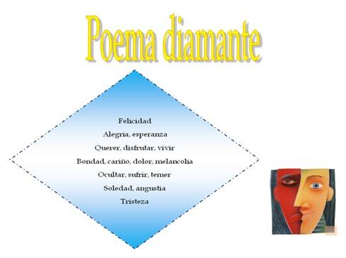 el poema diamante es un poema de versos asonantes que escritos y