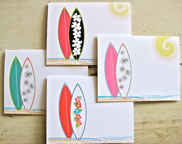 surfer, note card, surfer stationery