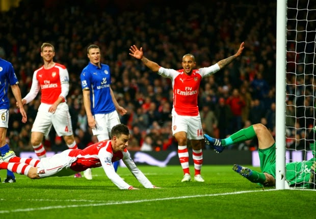 Arsenal Menang Tipis Atas Leicester City 2-1