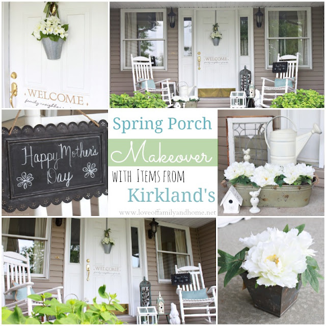 Spring Porch Makeover with Items from Kirkland's
