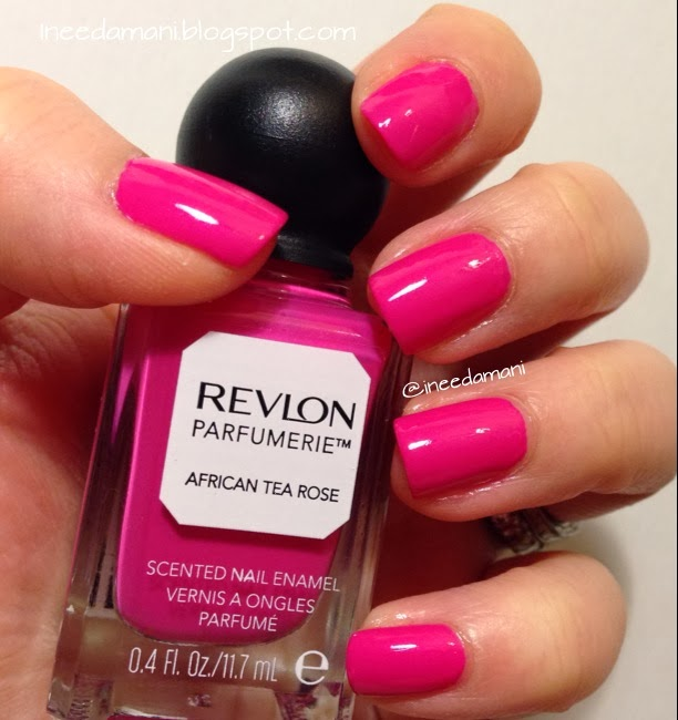 revlon parfumerie african tea rose nail review nail swatch