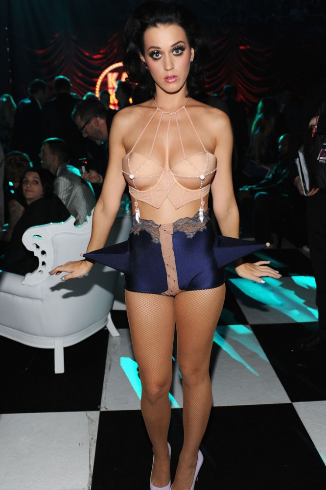 Katy Perry In Lingerie And Thigh Highs