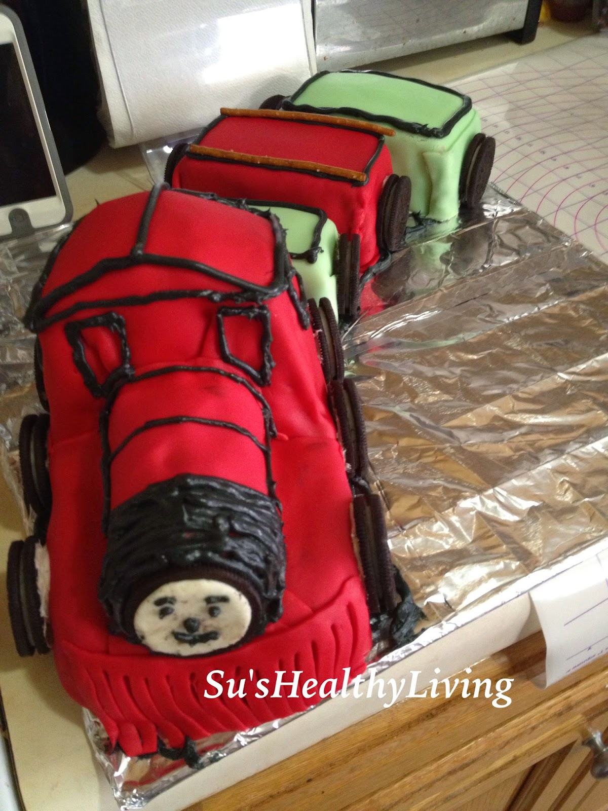 Sus Healthy Living Train Cake Shawn the train