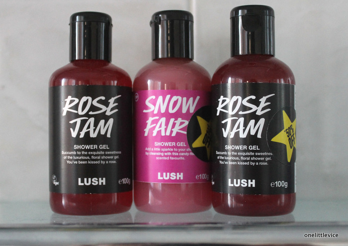 one little vice beauty blog: Lush Rose Jam and Snow Fairy Shower Gel