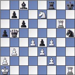 Posición de la partida de ajedrez Ulvestad, Olaf - Steiner, Herman después de 39. Ra1?
