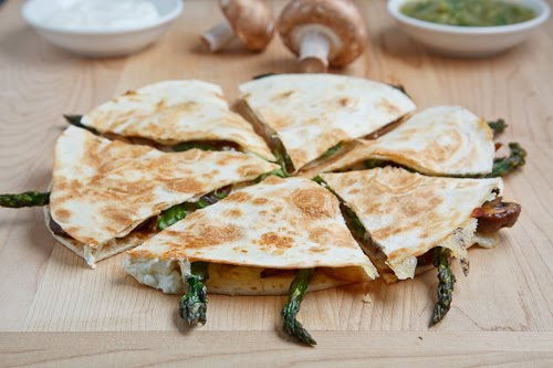 Quesadillas Stuffed With Mushrooms And Goat Cheese Recipe ...
