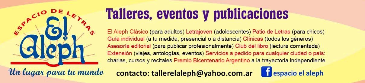 ESPACIO EL ALEPH: Talleres eventos y publicaciones