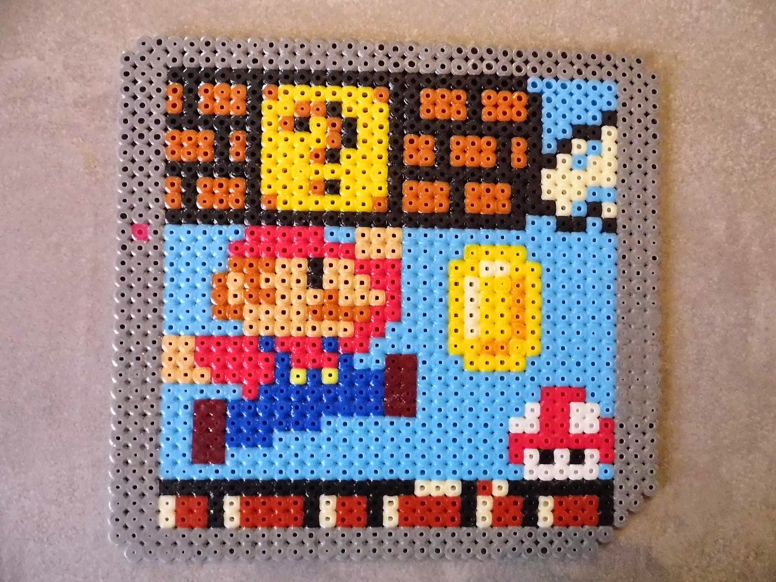 pixel art en perle hama univers mario en hama beads. Black Bedroom Furniture Sets. Home Design Ideas