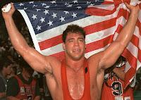 kurt angle olympic gold medalist US flag