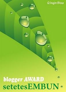 Award Setetes Embun