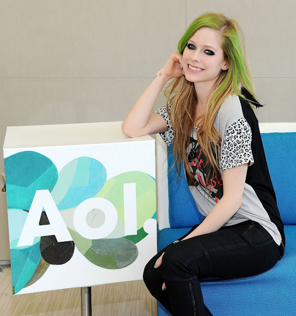 Avril Lavigne 2011 AOL Studios Photo Shoot At Beverly Hills