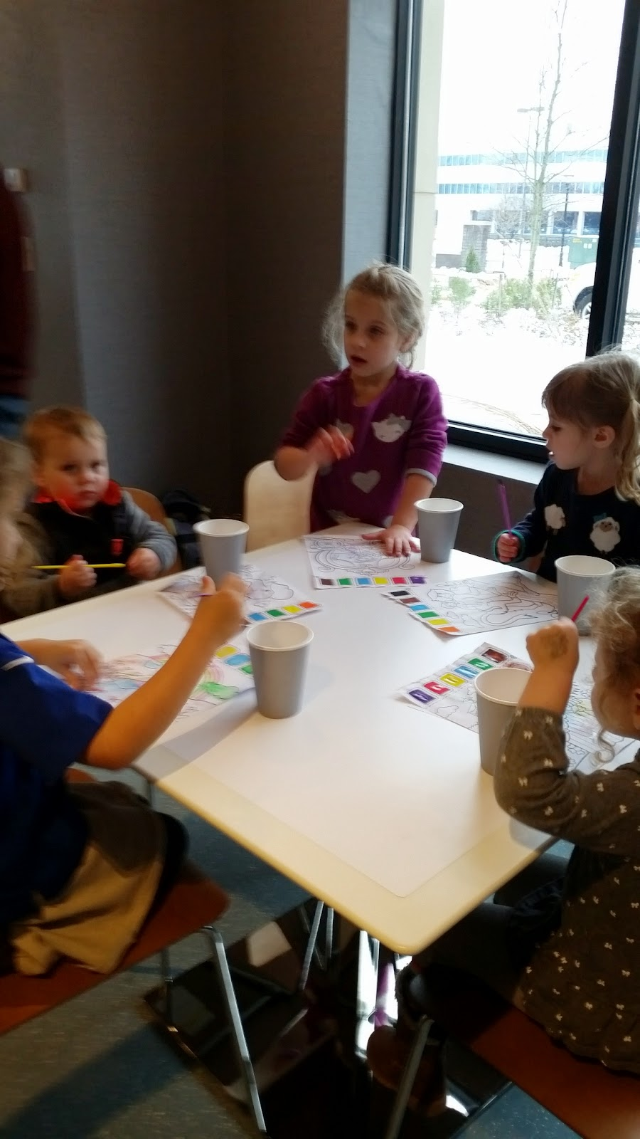 toddler and preschool paint with water